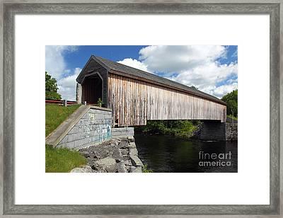 Lowes Covered Bridge Framed Print by Rick Mann