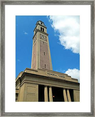 Lsu Memorial Tower Framed Print by Replay Pgotos