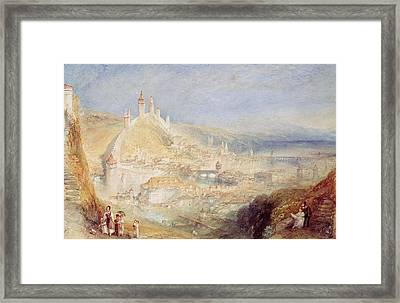 Lucerne From The Walls Framed Print by Joseph Mallord William Turner