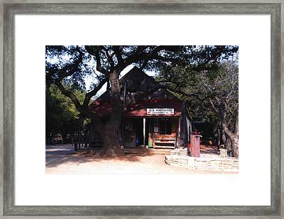 Luckenbach Texas - II Framed Print by Susanne Van Hulst