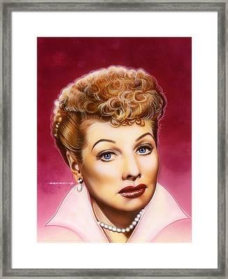 Lucy Framed Print by Tim  Scoggins