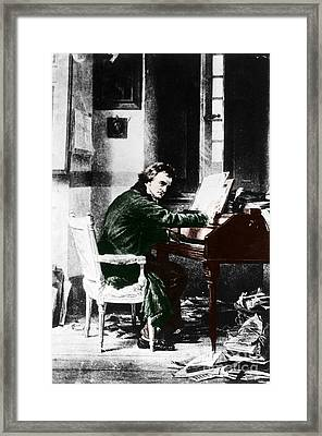 Ludwig Van Beethoven, German Composer Framed Print by Photo Researchers, Inc.