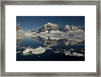 Luigi Peak Wiencke Island Antarctic Framed Print by Colin Monteath