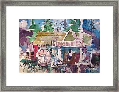 Lumber Mill Framed Print by Micheal Jones