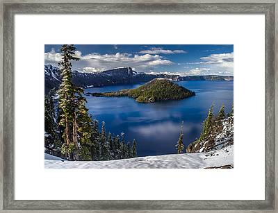Luminous Crater Lake Framed Print by Greg Nyquist