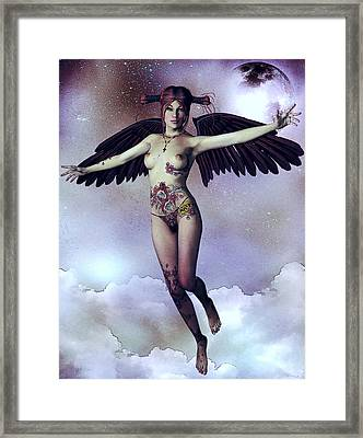 Luna Angelica Framed Print by Maynard Ellis