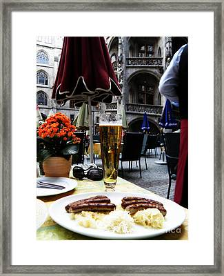 Lunch Time In Munich Germany Framed Print by Tanya  Searcy