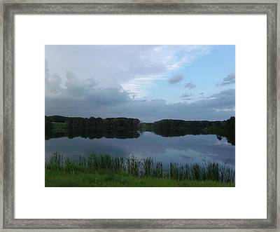 Lush Green Lake Framed Print by Brian  Maloney