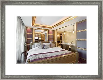 Luxury Bedroom Framed Print by Setsiri Silapasuwanchai