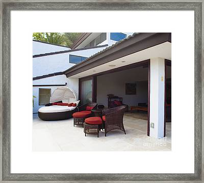 Luxury Patio Furniture Framed Print by Inti St. Clair