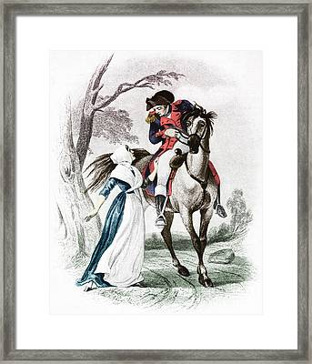 Lydia Darragh, American Patriot Framed Print by Photo Researchers