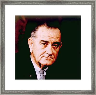 Lyndon B. Johnson 1908-1972, U.s Framed Print by Everett
