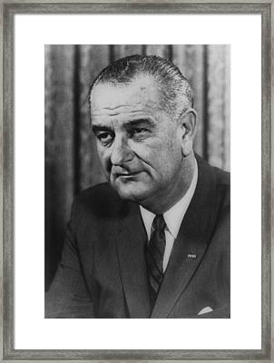 Lyndon B Johnson Framed Print by International  Images
