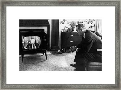 Lyndon Johnson. Us Senator And Future Framed Print by Everett
