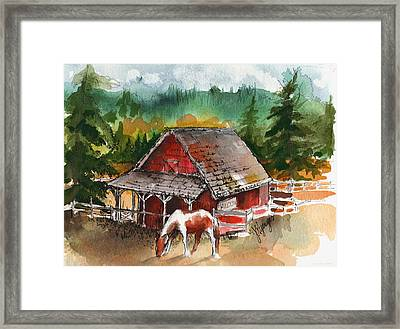 M Bar C Ranch Framed Print by Judi Nyerges
