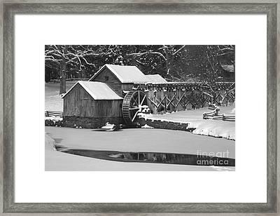 Mabry Mill In Black And White Framed Print by Joe Elliott