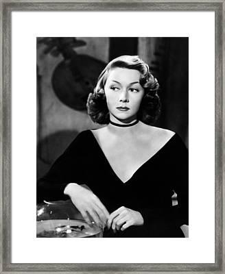 Macao, Gloria Grahame, 1952 Framed Print by Everett