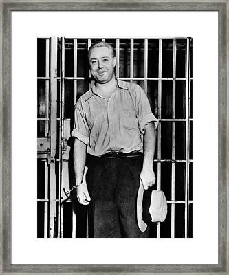 Machine Gun Kelly, Handcuffed To Cell Framed Print by Everett