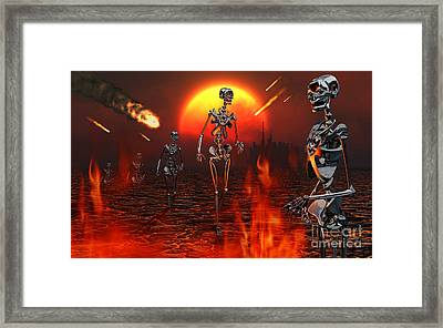 Machines Rise To Take Their Place Framed Print by Mark Stevenson