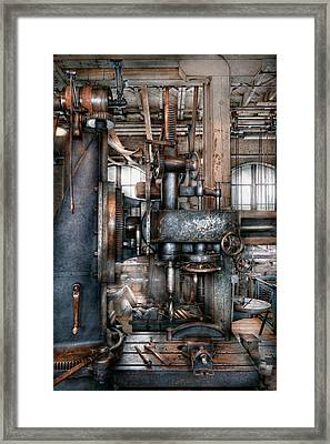 Machinist - My Really Cool Job Framed Print by Mike Savad