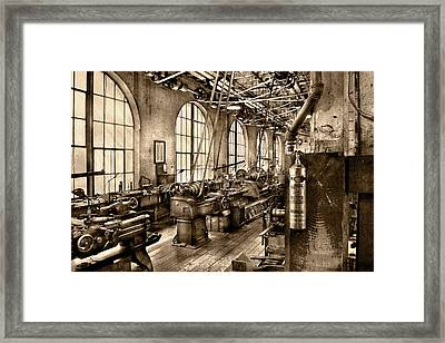 Machinist - Safety First  Framed Print by Mike Savad