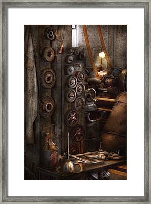Machinist - Steampunk - You Got Some Good Gear There Framed Print by Mike Savad