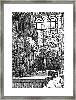 Macrocosm Appearing To Doctor Faustus Framed Print by Science Source