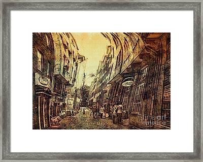 Mad Alley Framed Print by Jutta Maria Pusl