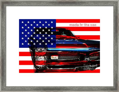 Made In The Usa . Pontiac Gto Framed Print by Wingsdomain Art and Photography