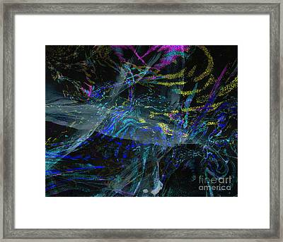 Madness -dizziness In The Source - Source Vertigineuse Framed Print by Fania Simon
