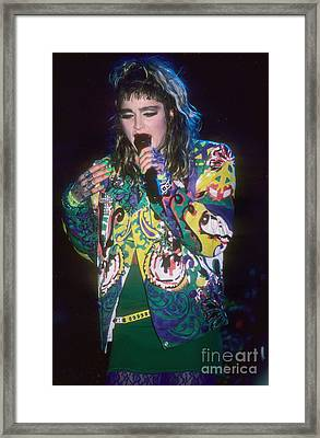Madonna 1985 Framed Print by David Plastik
