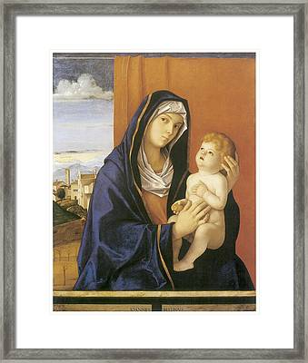Madonna And Child Framed Print by Giovanni Bellini