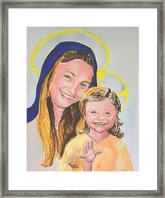 Madonna And Child Framed Print by Susan  Clark