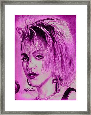 Madonna Framed Print by Michael Mestas