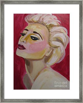 Madonna Red Hot Framed Print by Diana Riukas
