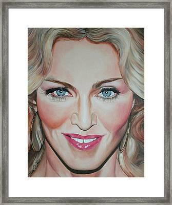 Madonna Framed Print by Timothe Winstead