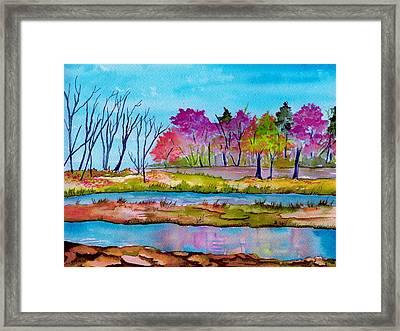 Magenta Woods Framed Print by Brenda Owen