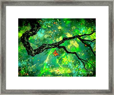 Magic Butterfly Framed Print by Shasta Eone
