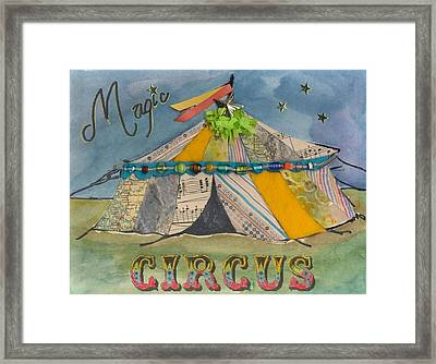 Magic Circus Framed Print by Casey Rasmussen White