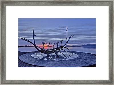 magic hour in Reykjavik Framed Print by Stephanie Benjamin