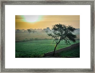 Magic Place At Magic Hour Framed Print by Daniyal Butt