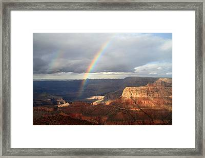 Magical Rainbow In The Grand Canyon Framed Print by Pierre Leclerc Photography