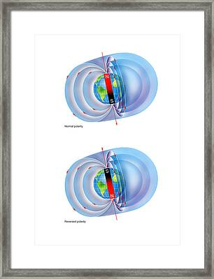 Magnetic Field Reversal Framed Print by Gary Hincks