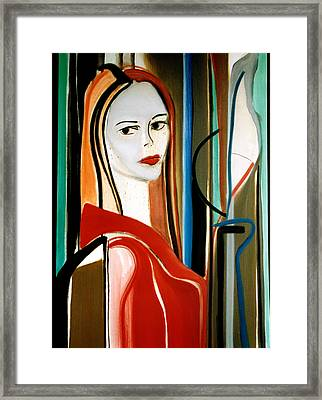 Magnetic Star Framed Print by Fabrice Plas
