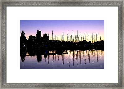 Magnificent Vancouver Sunset Framed Print by Will Borden