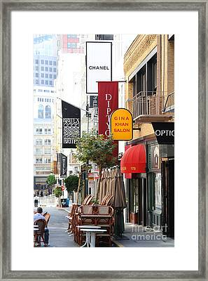 Maiden Lane San Francisco . 7d7350 Framed Print by Wingsdomain Art and Photography