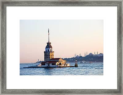 Maiden Tower In Istanbul Framed Print by Artur Bogacki
