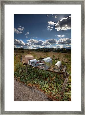 Mailboxes  Framed Print by Peter Tellone
