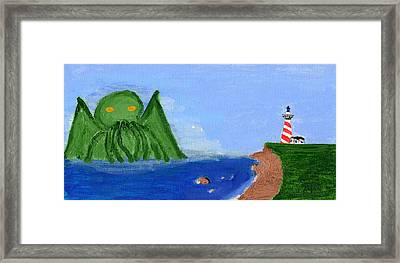 Maine Gets Eaten First Framed Print by Shaun Clayton