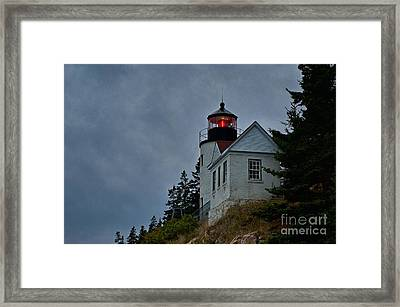 Maine Lighthouse Framed Print by John Greim